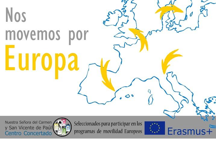 Pancarta Erasmus+ retocada